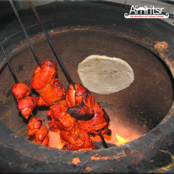 refrigerated chicken tikka in tandoor