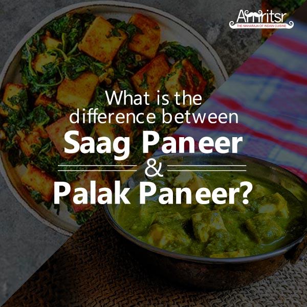 Difference between Saag Paneer and Palak Paneer