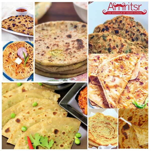 different types of indian paratha
