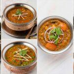 healthy lunch ideas- palak paneer, egg bhurji, mushroom mutter, rajma masala, amritsari chole, chicken handi